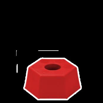 Marca de plástico hexagonal