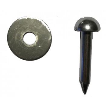 Prego  cabeça redonda c/ centragem 4.5 cm c/ anilha 3 cm